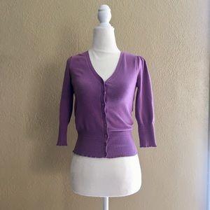 Worthington lavender cardigan